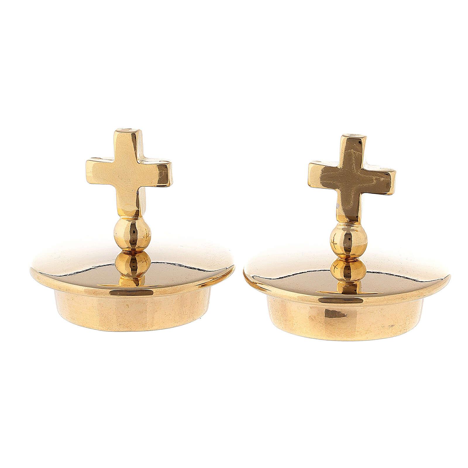Set bouchons pour burettes modèle Bologne croix simple 4
