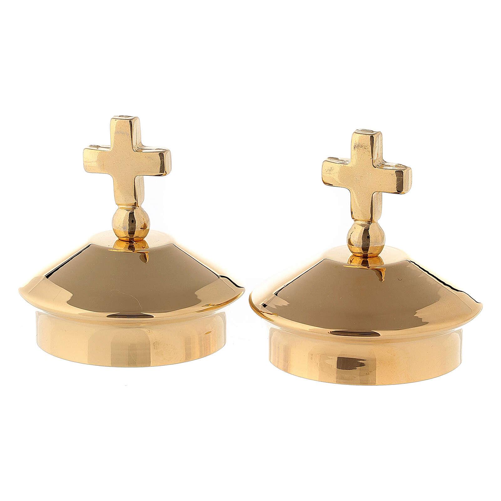Bouchons pour burettes modèles Fiesole - Côme laiton doré 24K 4