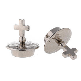Lids simple cross silver-plated brass for Venise-Rome cruets s2