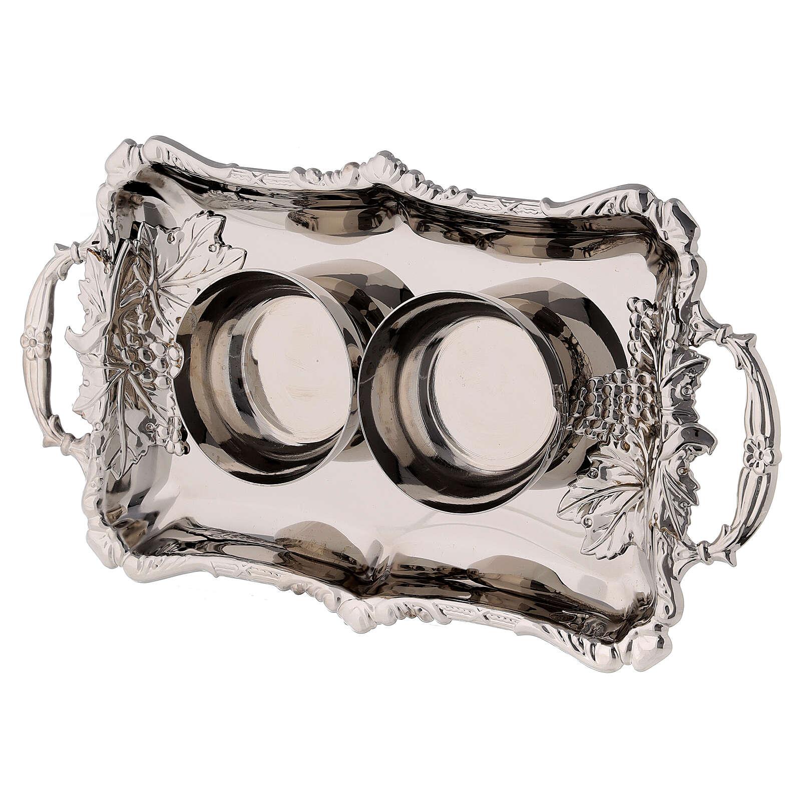 Set burettes eau et vin laiton nickelé modèle Parme 75 ml 4