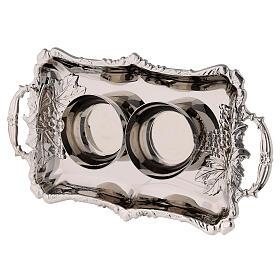 Set burettes eau et vin laiton nickelé modèle Parme 75 ml s4
