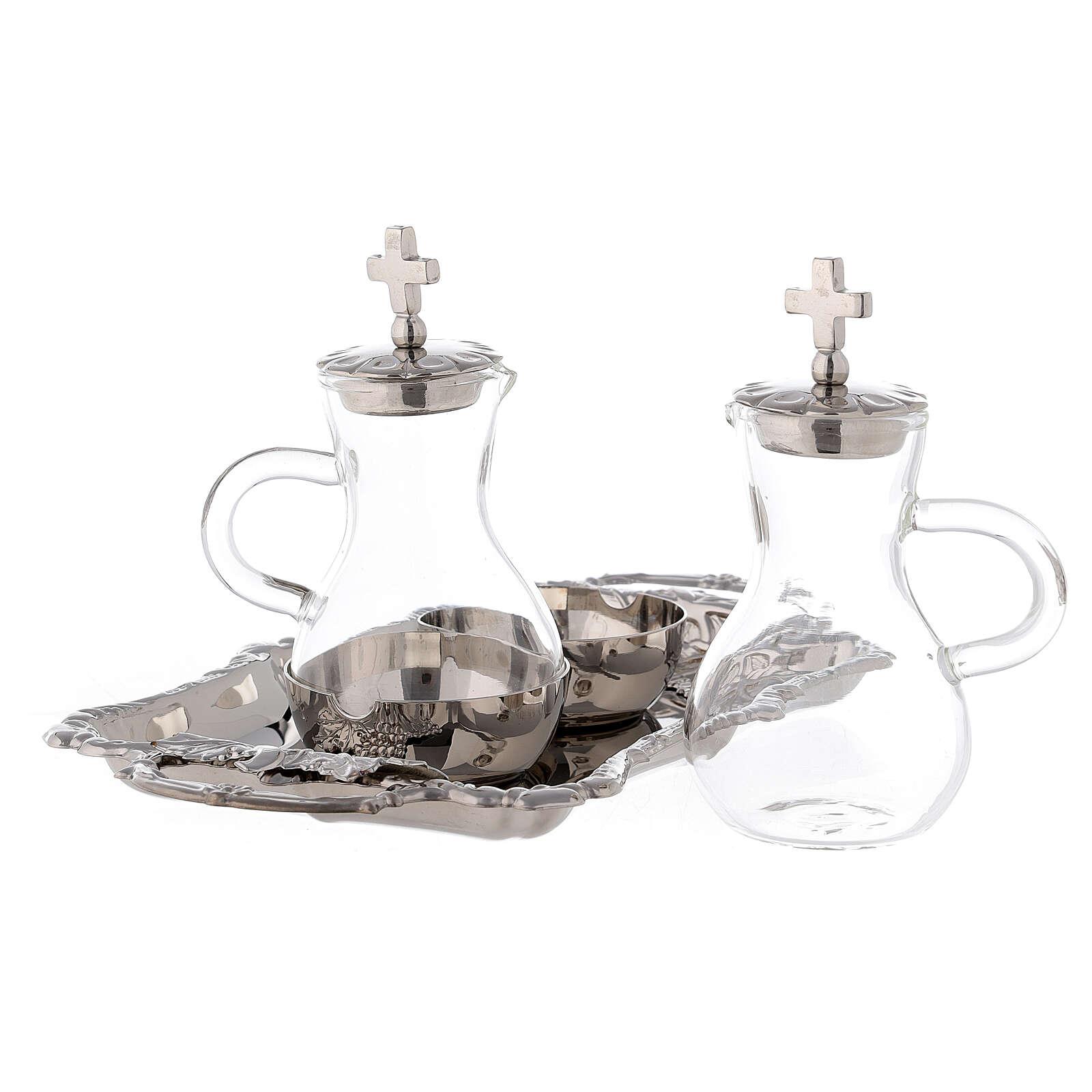 Coppia brocchette acqua e vino ottone nichelato modello Parma ml 75 4