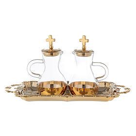 Parma cruets set in 24-karat gold plated brass s1