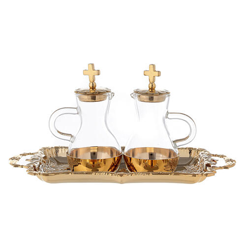 Parma cruets set in 24-karat gold plated brass 1