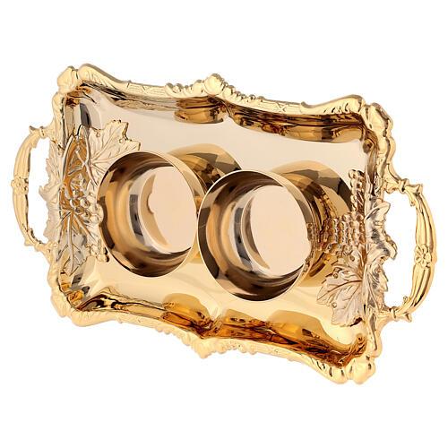 Parma cruets set in 24-karat gold plated brass 4