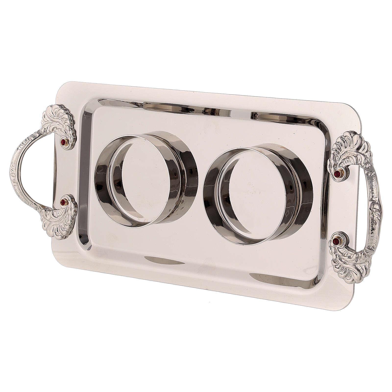 Silver-plated brass cruets Fiesole model 4