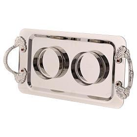 Silver-plated brass cruets Fiesole model s4