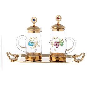 Servizio per acqua e vino modello Fiesole ottone dorato 24K  s1