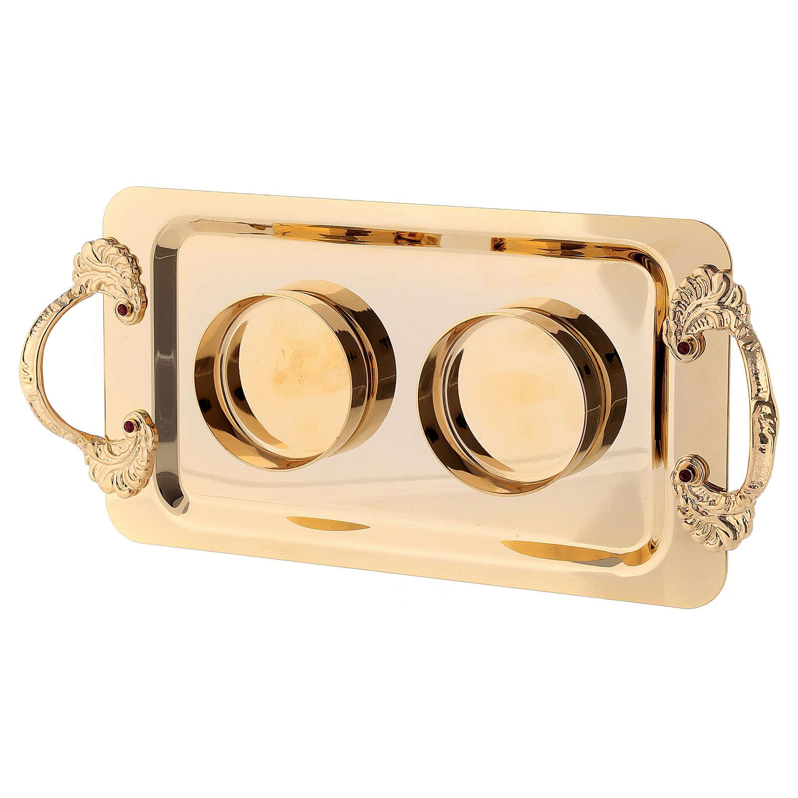 Fiesole cruets set of 24-karat gold plated brass 4
