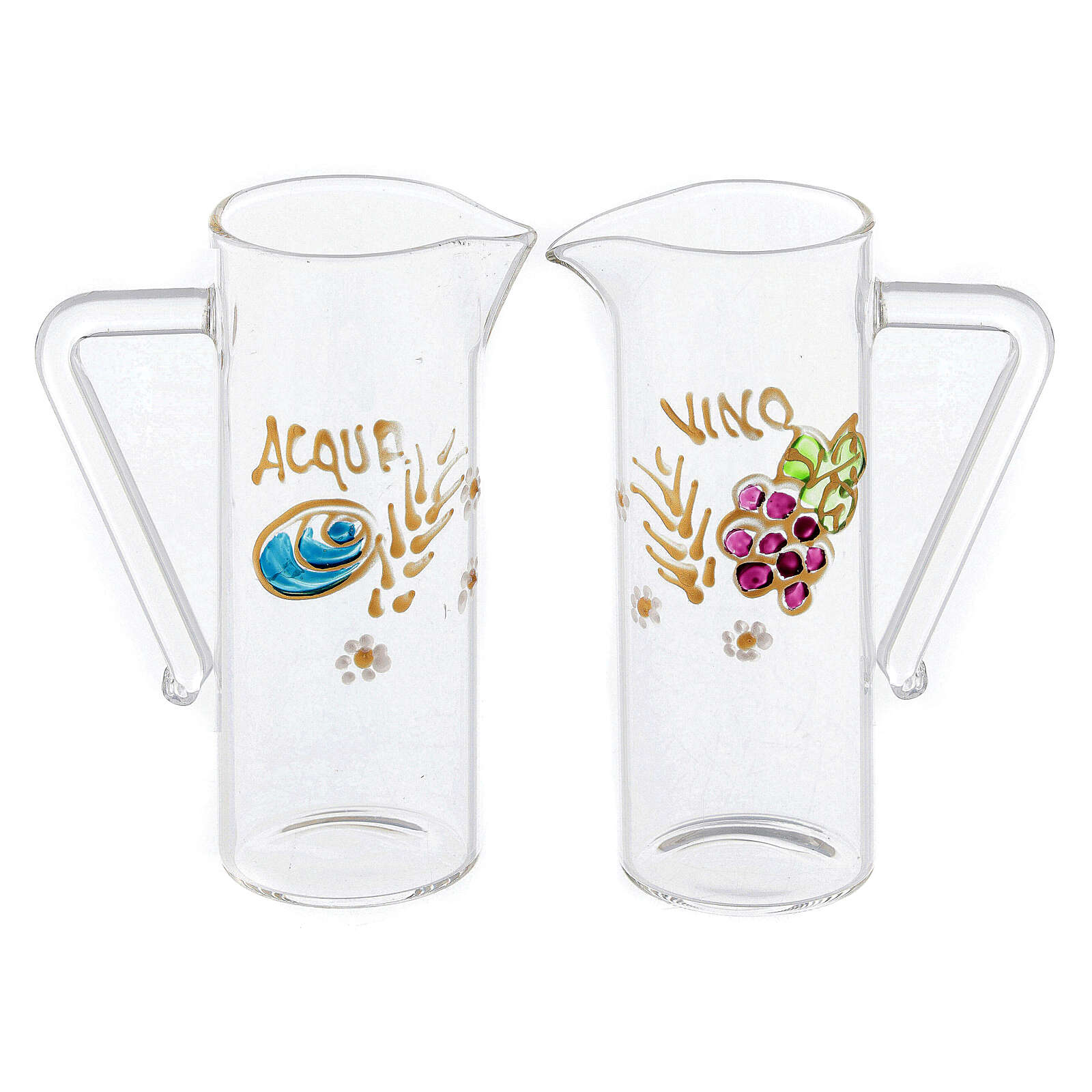 Coppia brocchette Ravenna vetro dipinte a mano 60 ml 4