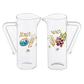 Coppia brocchette Ravenna vetro dipinte a mano 60 ml s1