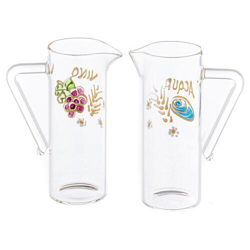Coppia brocchette Ravenna vetro dipinte a mano 60 ml 2