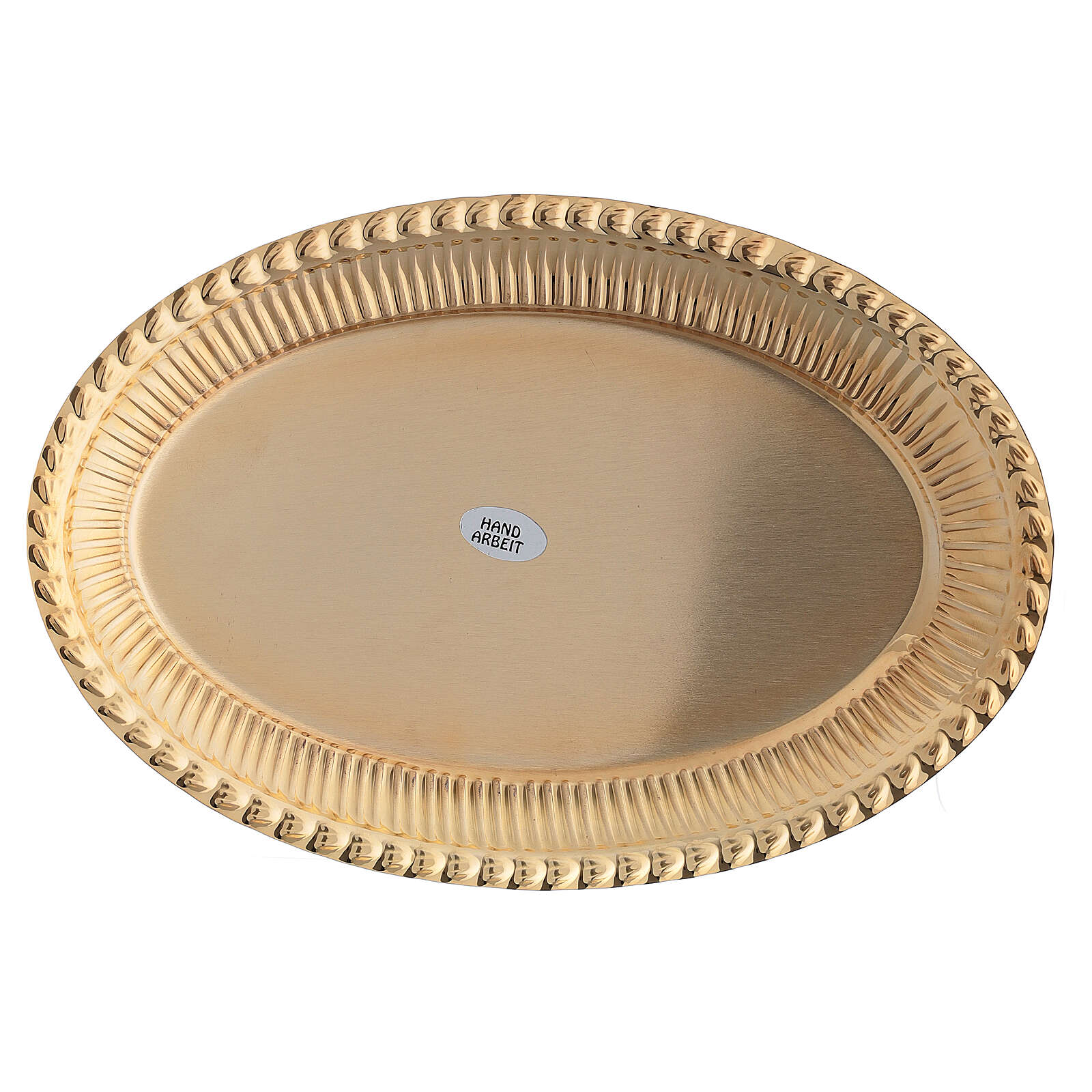 Bandeja latón dorado ovalado recambio set celebración 24x16 cm 4