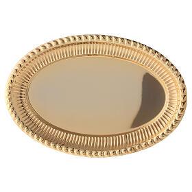 Vassoio ottone dorato ovale ricambio set celebrazione 24x16 cm s2
