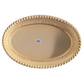 Vassoio ottone dorato ovale ricambio set celebrazione 24x16 cm s3