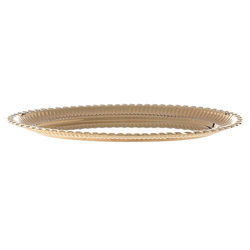 Vassoio ottone dorato ovale ricambio set celebrazione 24x16 cm 1