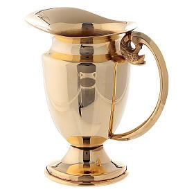 Servicio celebración vinajeras y bandeja latón dorado clásico s3