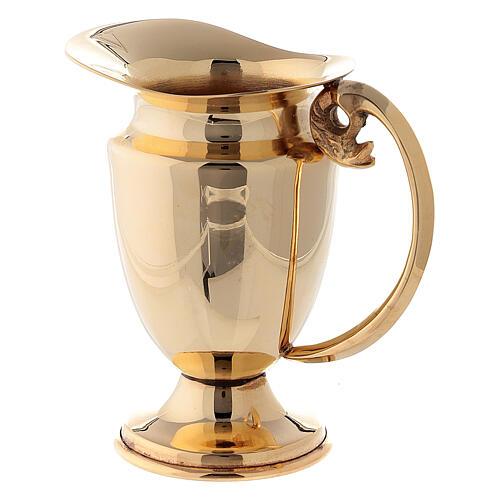 Servicio celebración vinajeras y bandeja latón dorado clásico 3