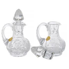 Set of 2 crystal cruets 50 ml s3