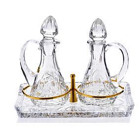 Servicio de vinajeras de cristal s1
