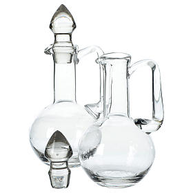 Cruet set in glass with caps s2