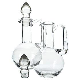 Set 2 vinajeras de vidrio con tapones s2
