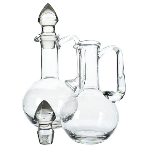 Set 2 vinajeras de vidrio con tapones 2