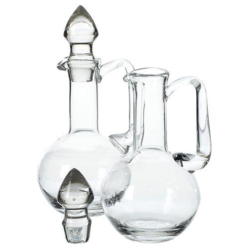 Set 2 ampolline in vetro con tappi 2