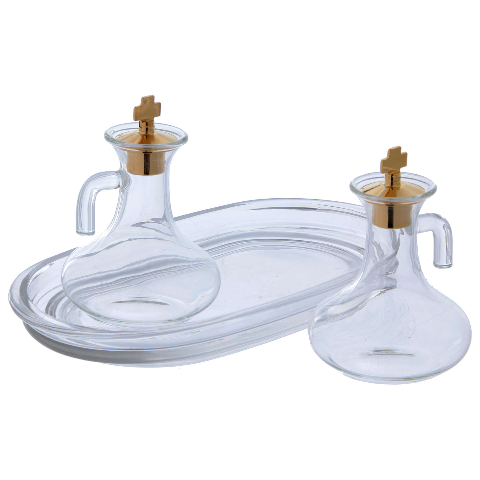 Glass cruets with plate 50 cc 4