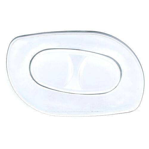 Glass cruets with plate 50 ml 3