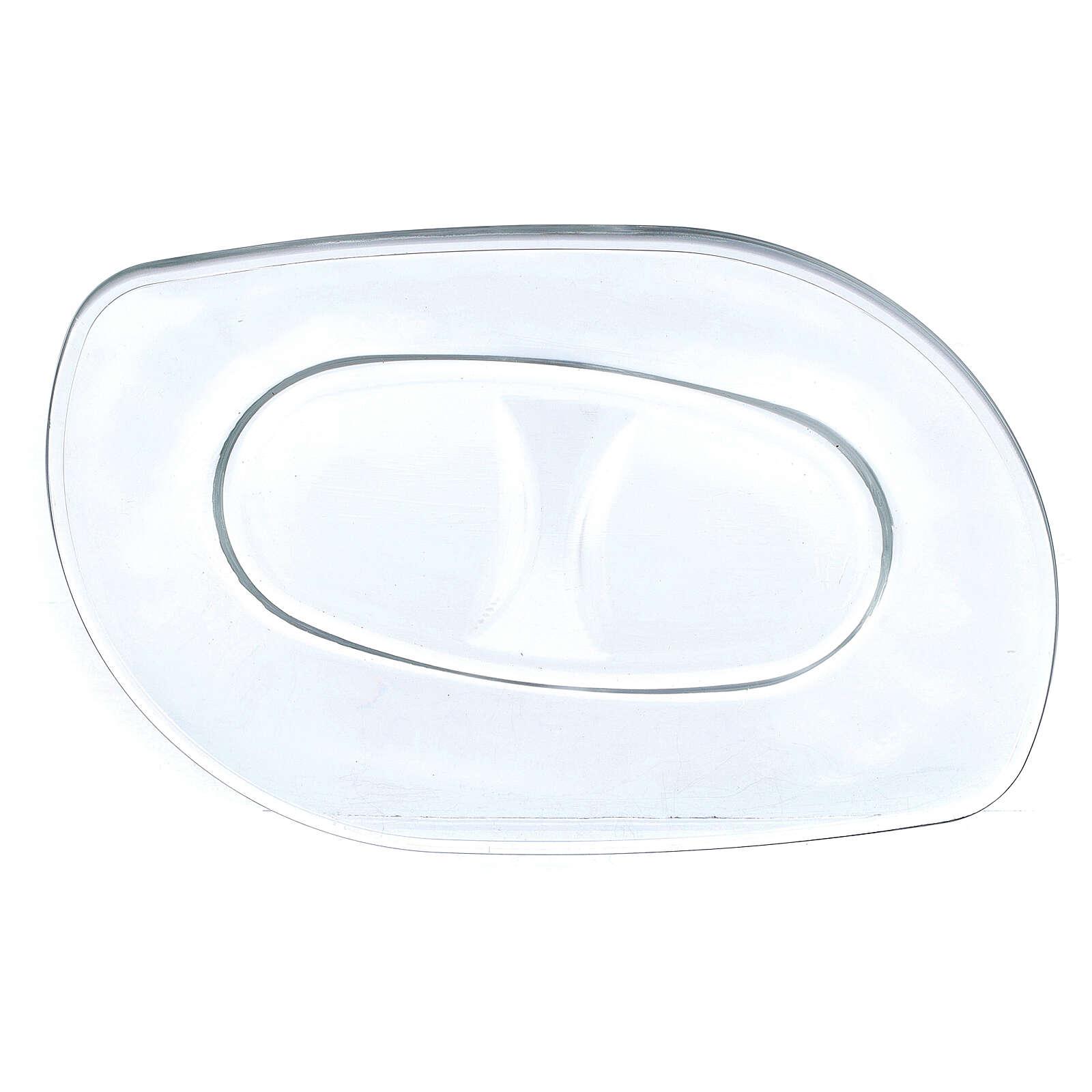 Vinajeras de vidrio con bandeja de vidrio 50 ml 4
