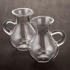 Blown glass cruet set bottles s2