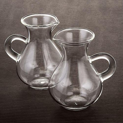 Blown glass cruet set bottles 2