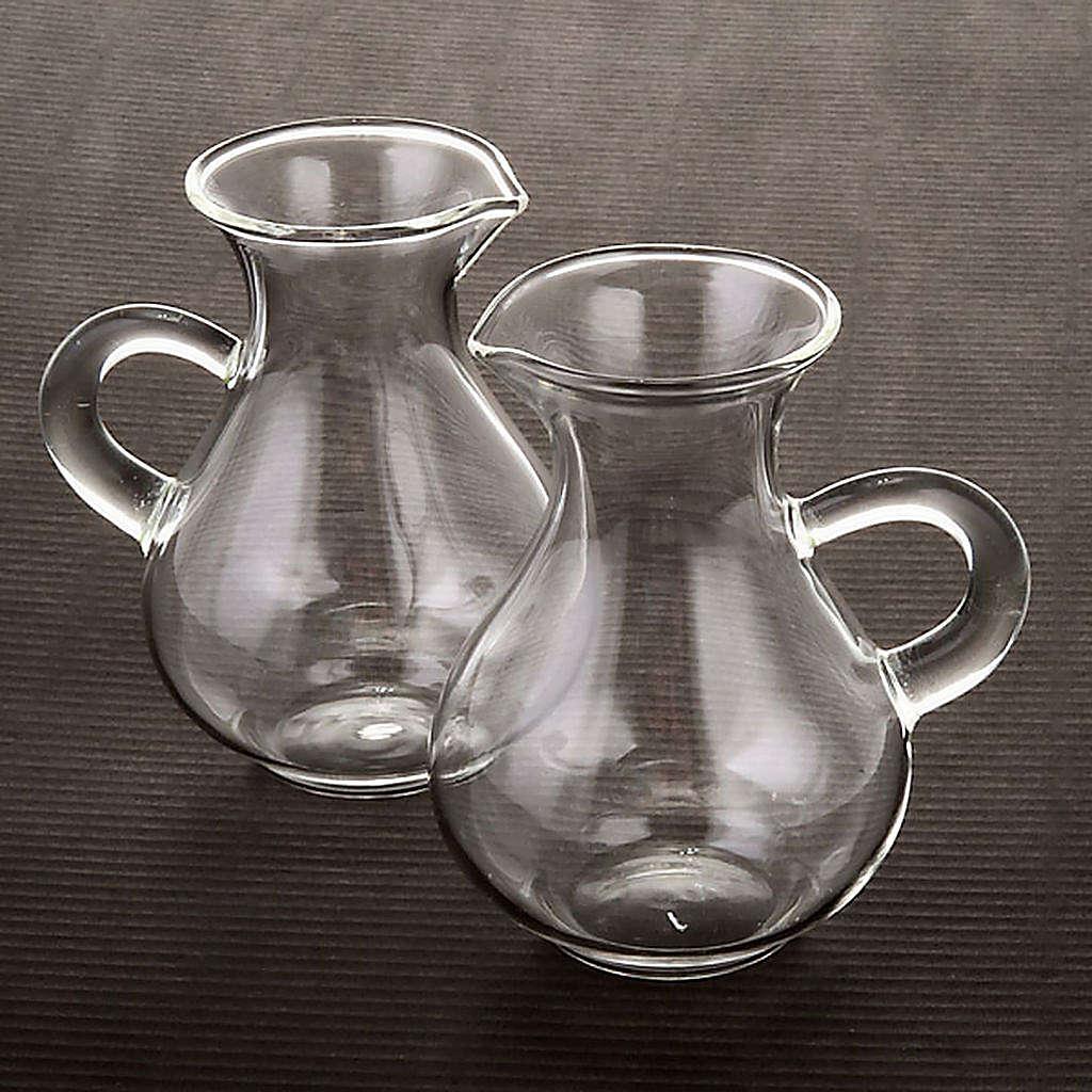 Pareja de vinajeras de vidrio soblado 4
