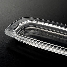 Plato de cristal rectangular 20 x 9,5 cm. s3