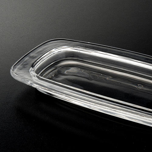 Plato de cristal rectangular 20 x 9,5 cm. 3