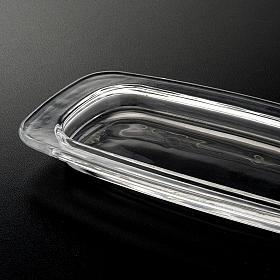 Vassoio vetro rettangolare 20 x 9.5 cm s3