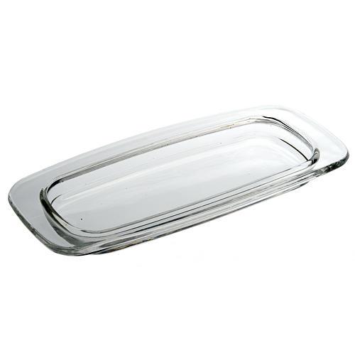 Vassoio vetro rettangolare 20 x 9.5 cm 1