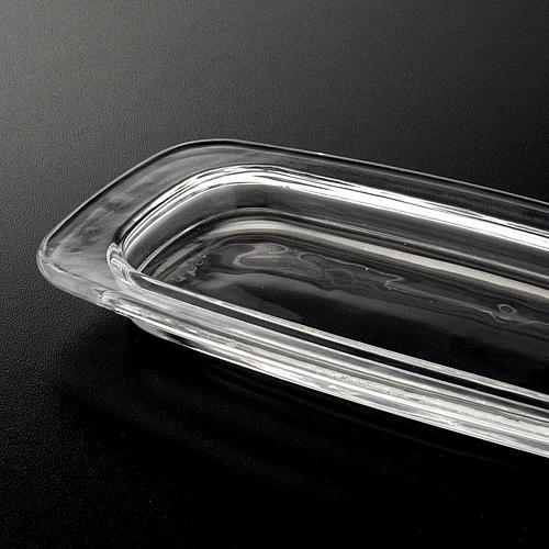 Vassoio vetro rettangolare 20 x 9.5 cm 3
