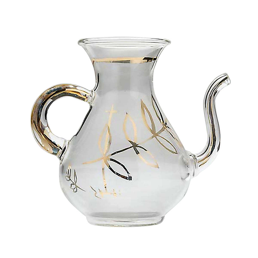 Replacement glass cruet for mass with spout 4