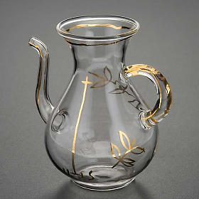Replacement glass cruet for mass with spout s3