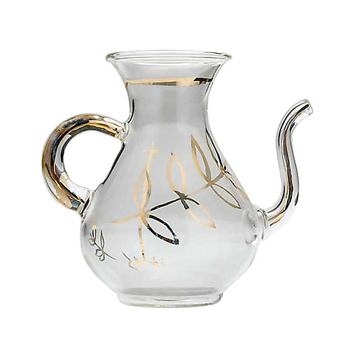 Replacement glass cruet for mass with spout 1
