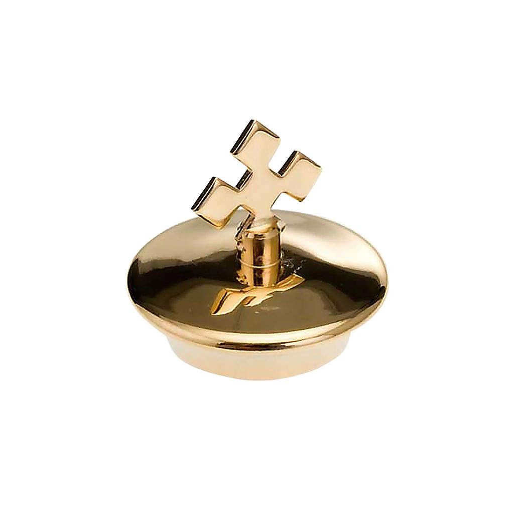 Repuesto vinajeras vidrio plato cuadrado oro: pareja de tapas 4