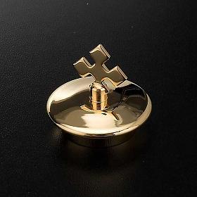 Repuesto vinajeras vidrio plato cuadrado oro: pareja de tapas s2