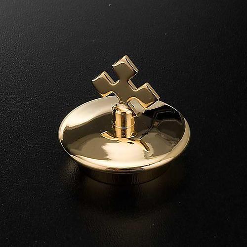 Repuesto vinajeras vidrio plato cuadrado oro: pareja de tapas 2