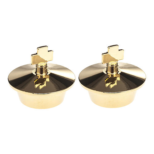 Replacement lids for glass cruet set for mass, pairs 1