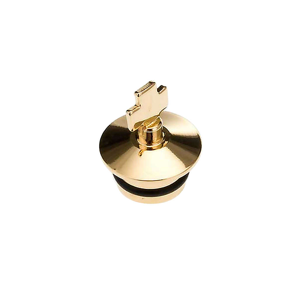 Replacement for cruets, golden antique finish: couple of stopper 4