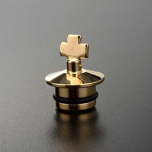Peças sobressalentes galhetas fusão ouro e antiquado: jogo tampas 2