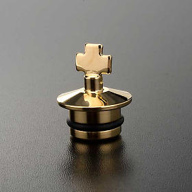 Replacement for cruets, golden antique finish: pair of stoppers s2