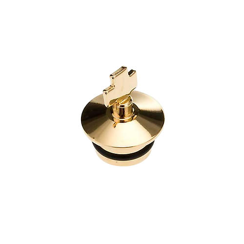 Replacement for cruets, golden antique finish: pair of stoppers 1